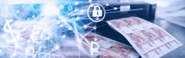 O conceito de crise econômica global. produção ilegal de dinheiro, a inscrição na conta