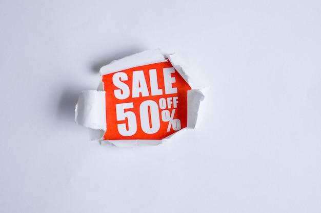 O conceito de vendas sob a forma de descontos 50.