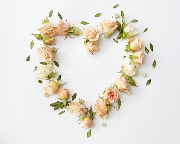 O coração de uma linda rosa