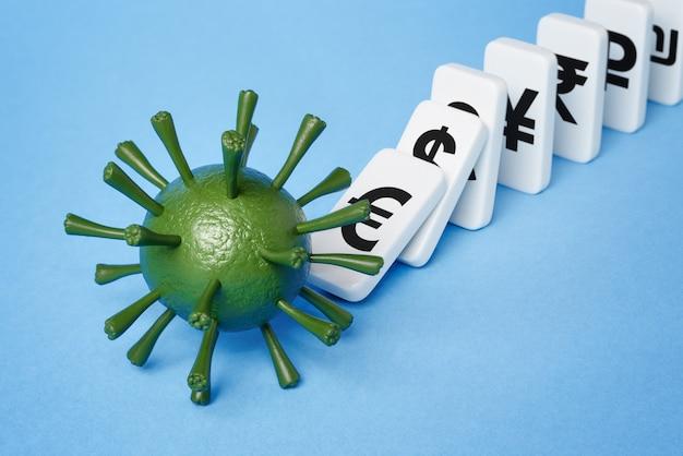 O coronavírus mata a economia. pandemia de covid 19 desencadeia crise financeira global