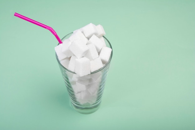 O dano do açúcar em milkshakes.