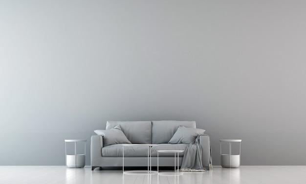 O design de interiores e os móveis da sala de estar e a textura das paredes