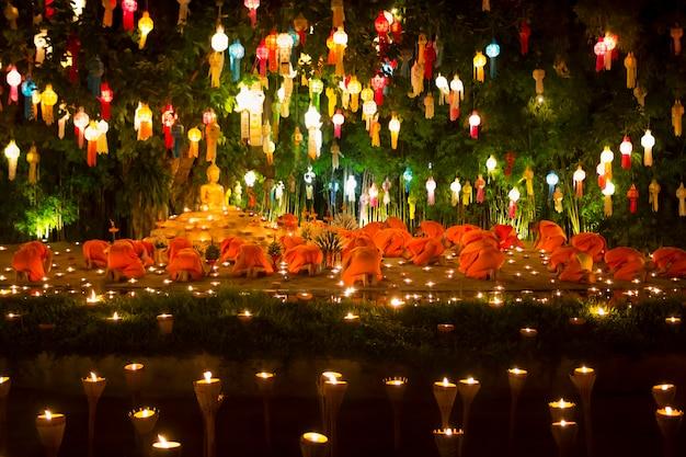 O festival yee-peng é uma cultura importante na tailândia
