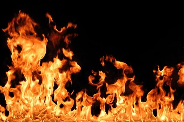 O fogo quente laranja abstrato queima isolado