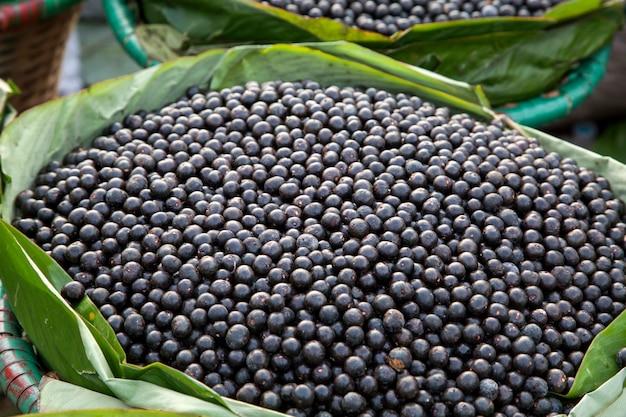O fruto do açaí amazônico. fruta fresca