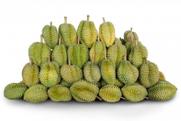 O fruto do durian arranja isolado junto.