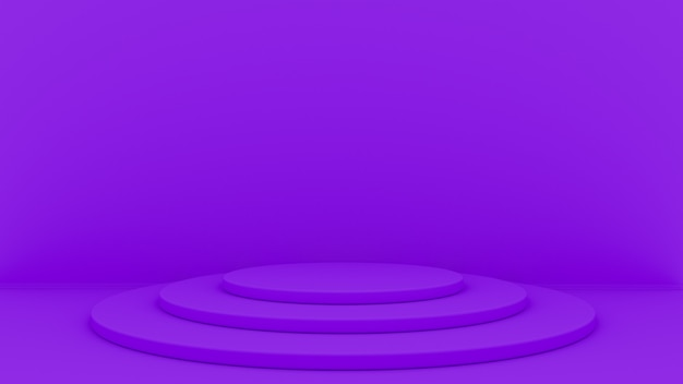 O fundo 3d abstrato rende. plataforma para exibição do produto. lugar do pódio interior.