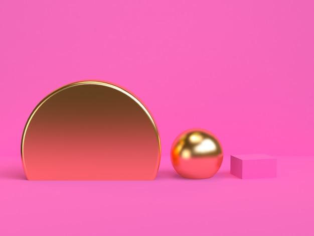 O fundo abstrato geométrico minimalista, cores pastel, 3d rende, cartaz da tendência, ilustração.