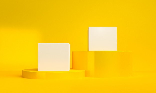O fundo abstrato minimalista, figuras geométricas primitivas, cores pastel, 3d rende.
