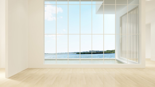 O fundo da parede interior vazio no condomínio - rendição 3d