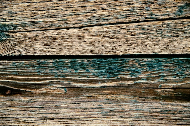 O fundo é feito de placas antigas com pintura descascada. a textura da madeira áspera e áspera.