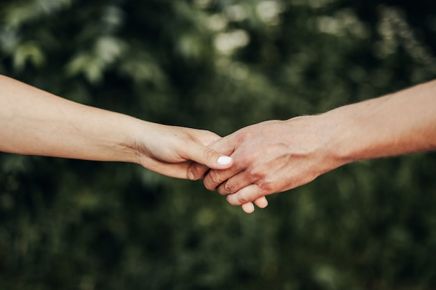 O garoto e a garota apertaram as mãos