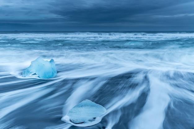 O gelo na praia de diamantes!