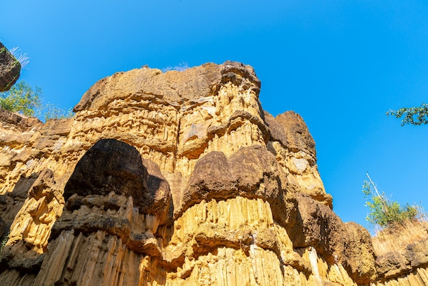 O grand canyon chiang mai ou pha chor no parque nacional mae wang, chiang mai, tailândia