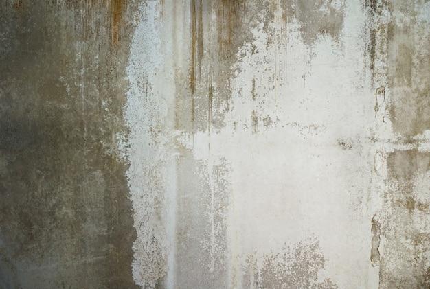 O grunge rachou a textura e o fundo velhos do muro de cimento.