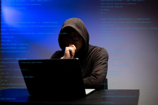 O hacker encobriu os servidores de dados governamentais de informações de hacking perigosas e conseguiu a senha para inserir o vírus no sistema. desbloqueie e analise dados pessoais e software.