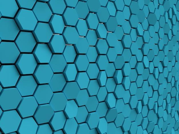 O hexágono abstrato da parede preta bloqueia o fundo luz mínima limpa parede corporativa 3d geométrica