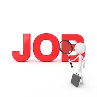 O homem que encontra um emprego