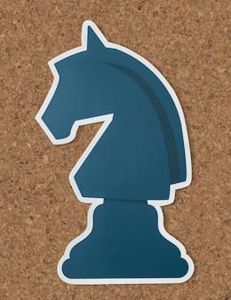 O ícone de estratégia de xadrez de cavaleiro
