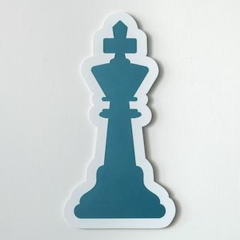O ícone de xadrez do rei isolado