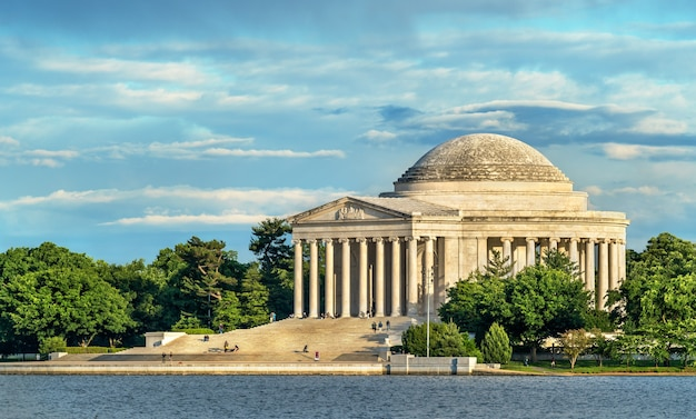 O jefferson memorial, um memorial presidencial em washington, dc, estados unidos
