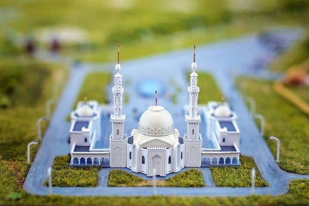O layout da mesquita branca