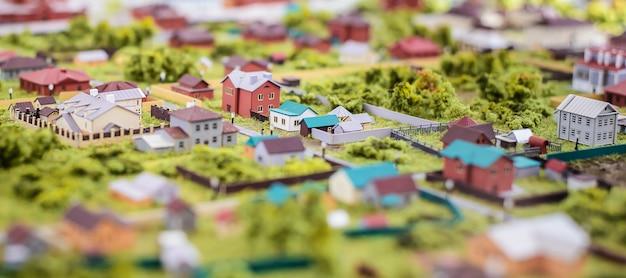O layout das pequenas casas da vila