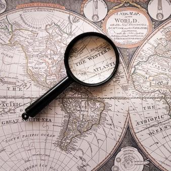 O mapa do velho mundo ocidental ou atlântico