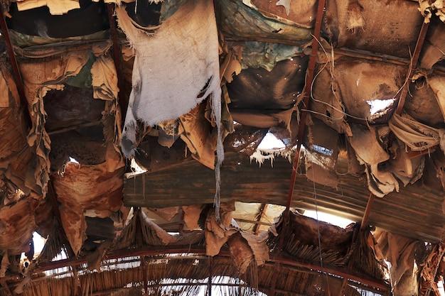 O mercado local em cartum, sudão