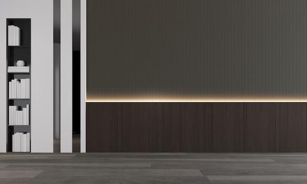 O mock up decoração de design de interiores de sala de estar aconchegante e moderna e fundo de parede padrão