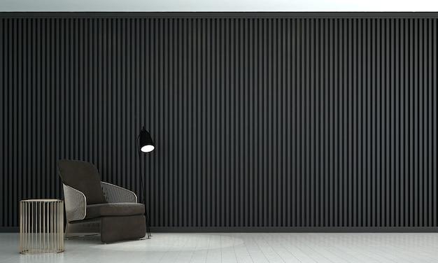 O mock up design de móveis em um fundo interior moderno, aconchegante sala de estar, estilo escandinavo, renderização 3d, ilustração 3d