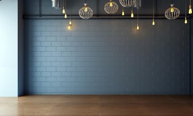 O mock up design de móveis em um fundo interior moderno, aconchegante sala de estar vazia