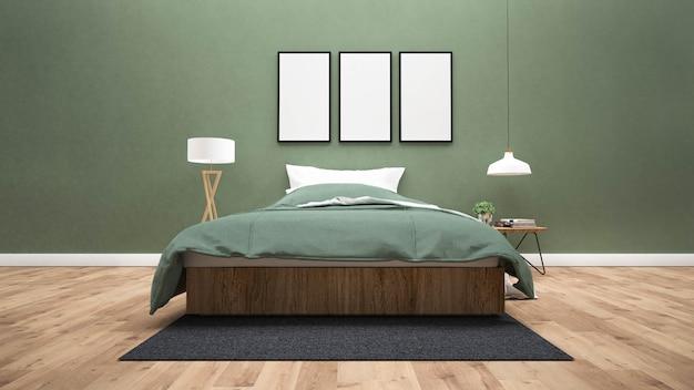 O moderno do quarto.