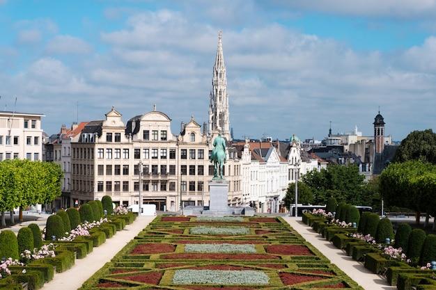O mont des arts em bruxelas, bélgica