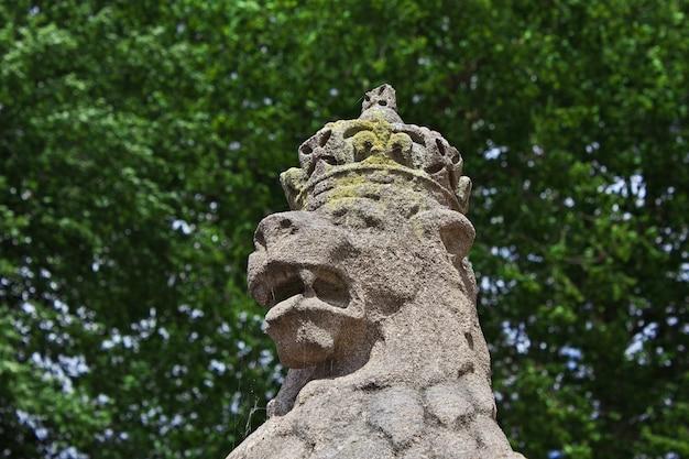 O monumento no castelo de windsor na inglaterra