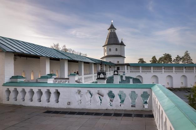 O mosteiro da ressurreição ou mosteiro da nova jerusalém istra moscou região rússia