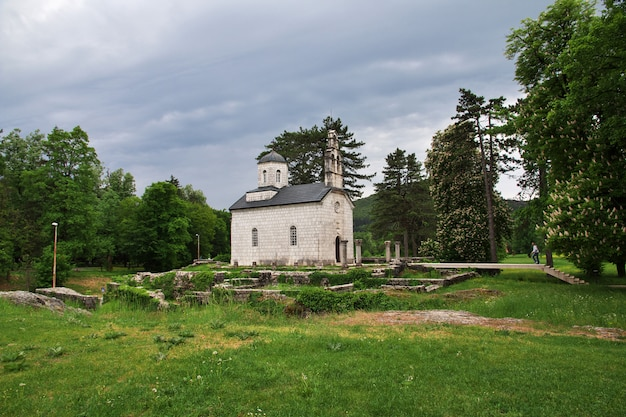 O mosteiro em cetinje, montenegro