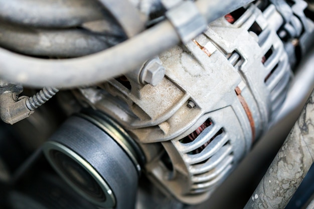 O motor do carro, compartimento do motor