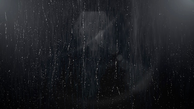 O movimento chove no fundo cinematográfico com chuva e textura da parede. ilustração 3d luxuosa e elegante do tema do cinema