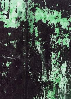 O muro de cimento velho manchou com pintura verde. textura de design para o interior da casa ou papéis de parede.