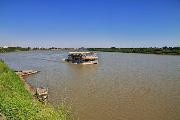 O navio no rio nilo, cartum, sudão