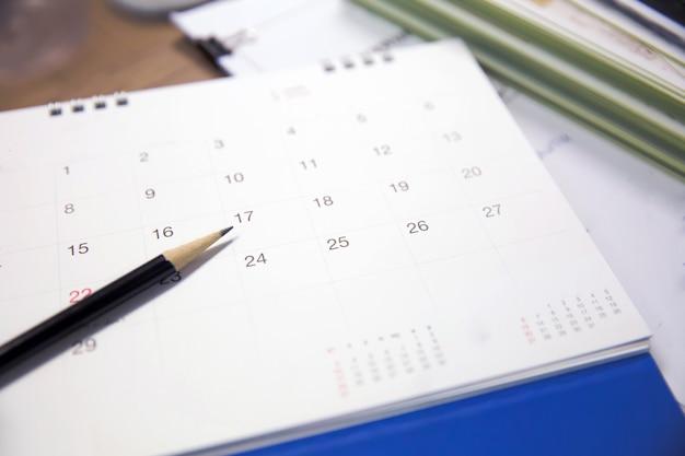 O organizador de eventos do calendário está ocupado