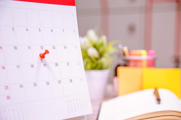 O organizador de eventos do calendário está ocupado.