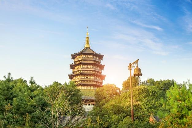 O pagode de leifeng, hangzhou, china
