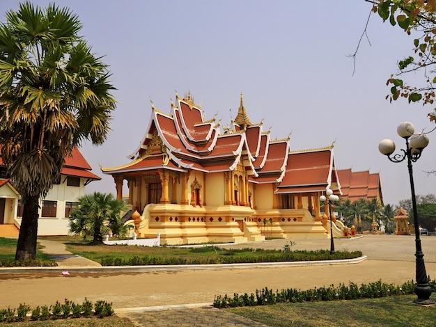 O palácio em vientiane, laos