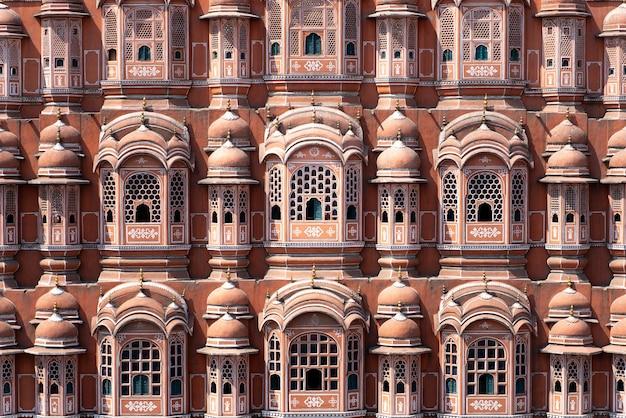 O palácio hawa mahal em jaipur