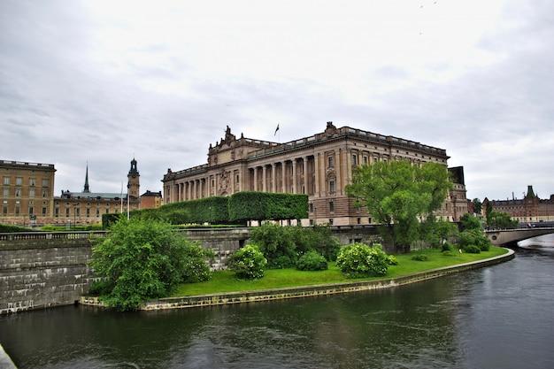 O palácio real em estocolmo, suécia