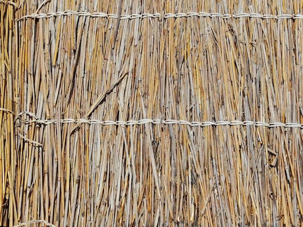 O papel de parede de textura de palha. fundo