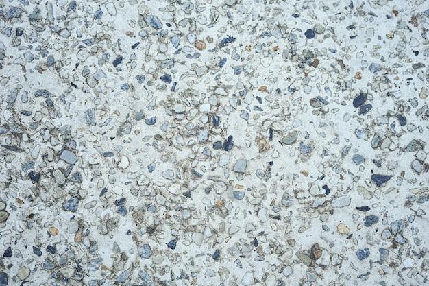 O piso de pedra de seixos pode ser usado como plano de fundo