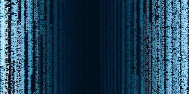 O plano da informação digital código de dados binários termos de segurança da informação tecnológica conceito de segurança cibernética